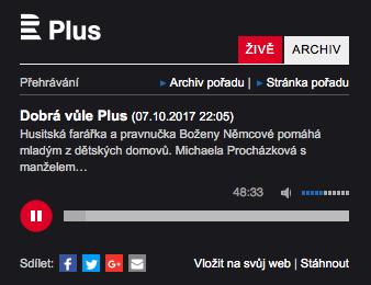 ČRo Plus: Jan Bím v pořadu Dobrá vůle